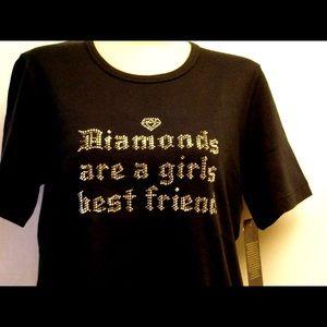 NWT S, M, or L Diamonds are a girls best friend